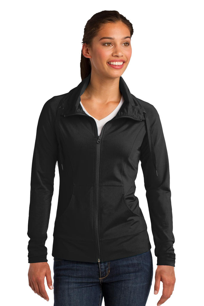 Sport-Tek® Ladies Sport-Wick® Stretch Full-Zip Jacket. LST852
