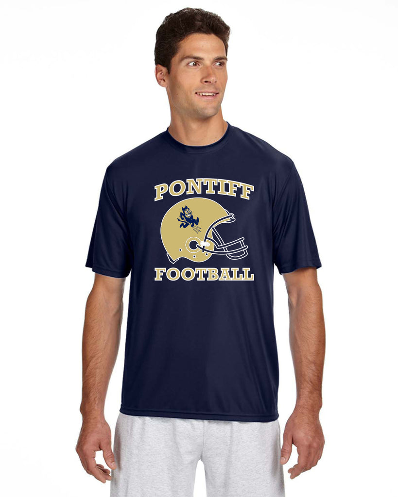 PONTIFF FOOTBALL - Men's Short-Sleeve Cooling Performance Crew #2 (AB N3142)