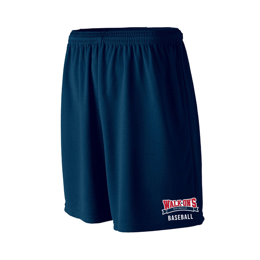 WALK ONS BASEBALL - A4 Adult Nine Inch Inseam Mesh Short
