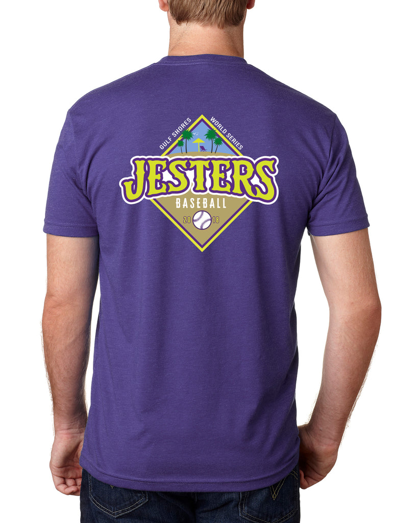JESTERS 2018 - WORLD SERIES - BEACH S/S TEE (YOUTH & ADULT)