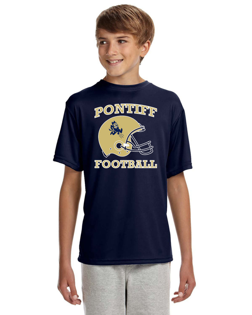 PONTIFF FOOTBALL - Youth Short-Sleeve Cooling Performance Crew #2 (AB NB3142)