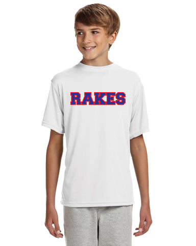 RAKES Youth Short-Sleeve Cooling Performance Crew