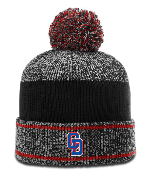 CD GBB - Heathered Pom Beanie - R-148