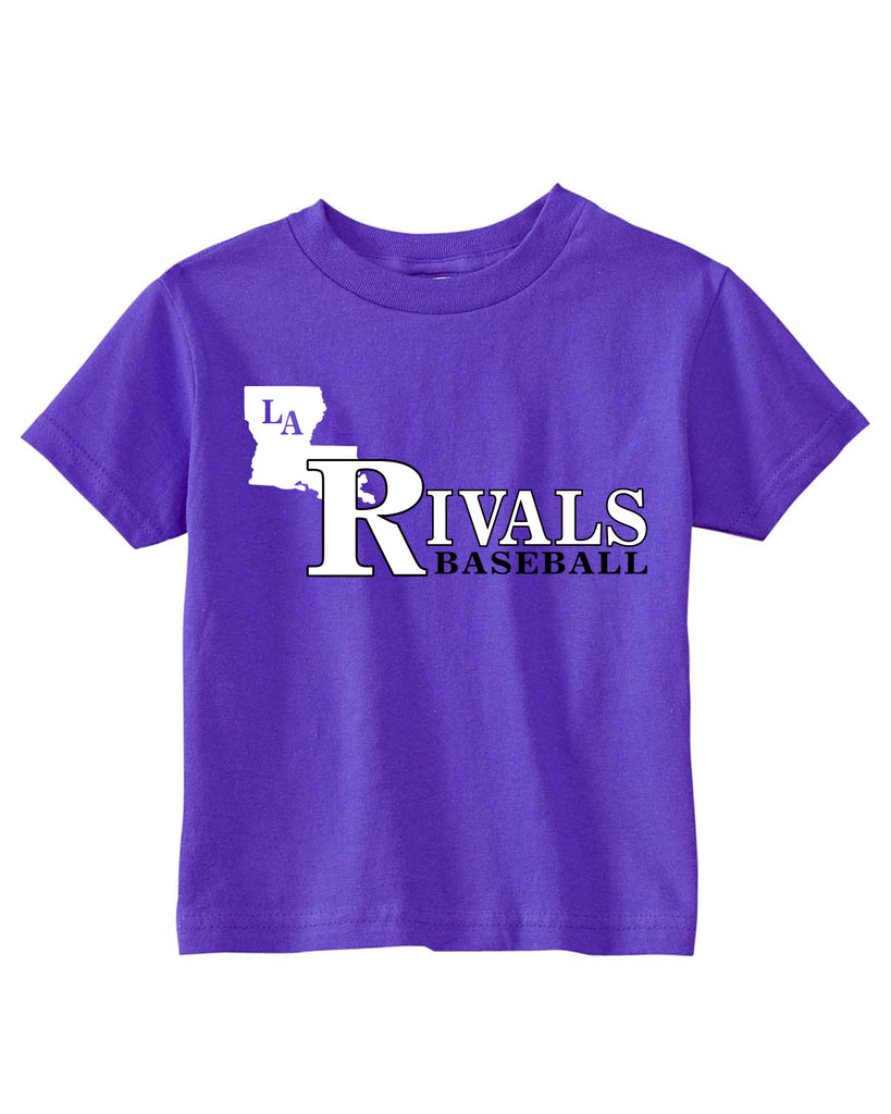 LA Rivals Baseball - Rabbit Skins TODDLER Cotton Jersey T-Shirt (AB RS3301)