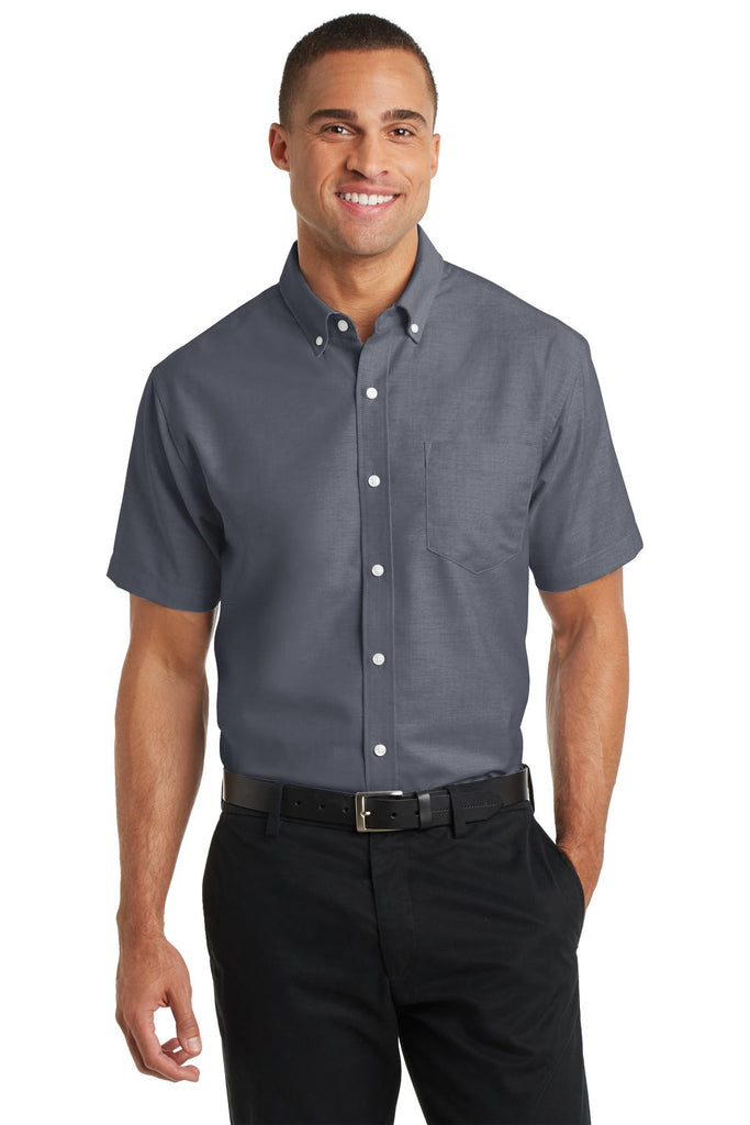 Port Authority® Short Sleeve SuperProª Oxford Shirt. S659