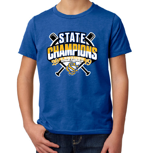 SCC STATE CHAMPS - YOUTH Next Level CVC S/S TEE