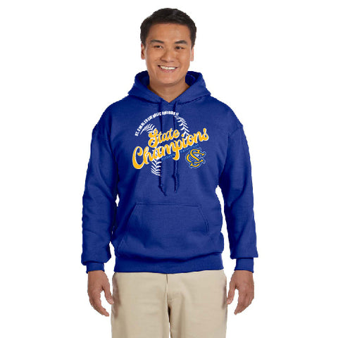 "SCC STATE CHAMPS - ""SCRIPT"" ADULT HEAVY BLEND PULLOVER HOODIE"