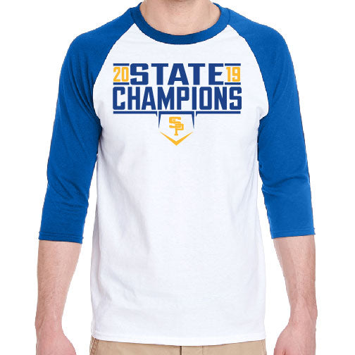 2019 CHAMPS - ADULT RAGLAN SLEEVE TEE