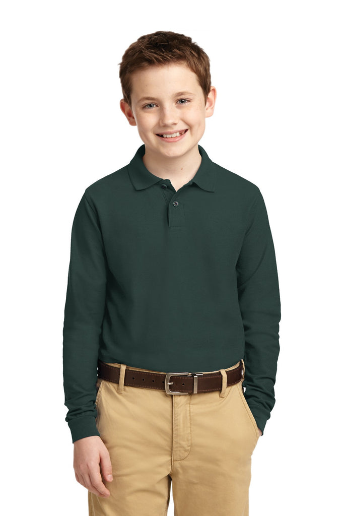 Port Authority® Youth Long Sleeve Silk Touchª Polo.  Y500LS