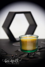 beeswax glass candles
