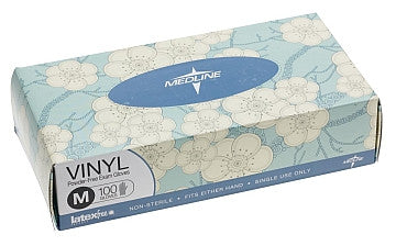 Designer Boxed Vinyl Exam Gloves