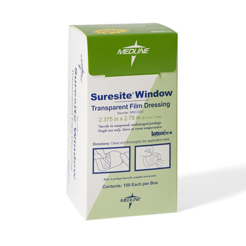 "Suresite Window Transparent Film Dressing 2.375""X2.75"""