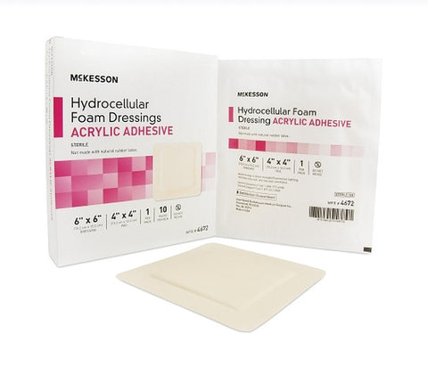 Foam Dressing 6 X 6 Inch Square Adhesive with Border Sterile