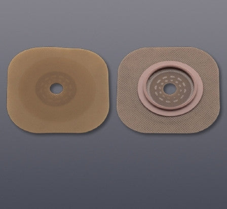 Colostomy Barrier FlexTend™ Extended Wear Without Tape 2-3/4 Inch Flange Blue Code Hydrocolloid Cut-to-fit, Up to 2-1/4 Inch Stoma
