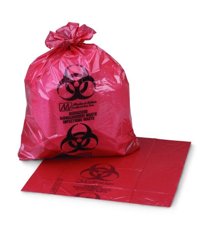 Infectious Waste Bag Medi-Pak™ ULTRA-TUFF™ 11 x 14 Inch Printed, 50/bx