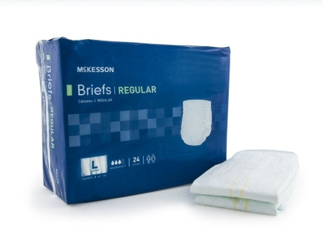 Adult Incontinent Brief Regular Tab Closure Large Disposable Moderate Absorbency