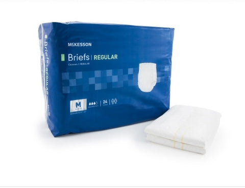 Adult Incontinent Brief Regular Tab Closure Medium Disposable Moderate Absorbency