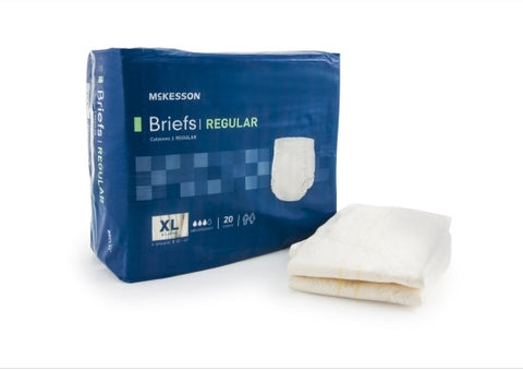 Adult Incontinent Brief Regular Tab Closure X-Large Disposable Moderate Absorbency