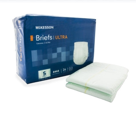 Adult Incontinent Brief Ultra Tab Closure Small Disposable Heavy Absorbency