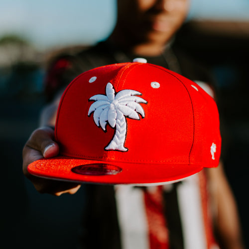 Coconut Tree SnapBack (Red)