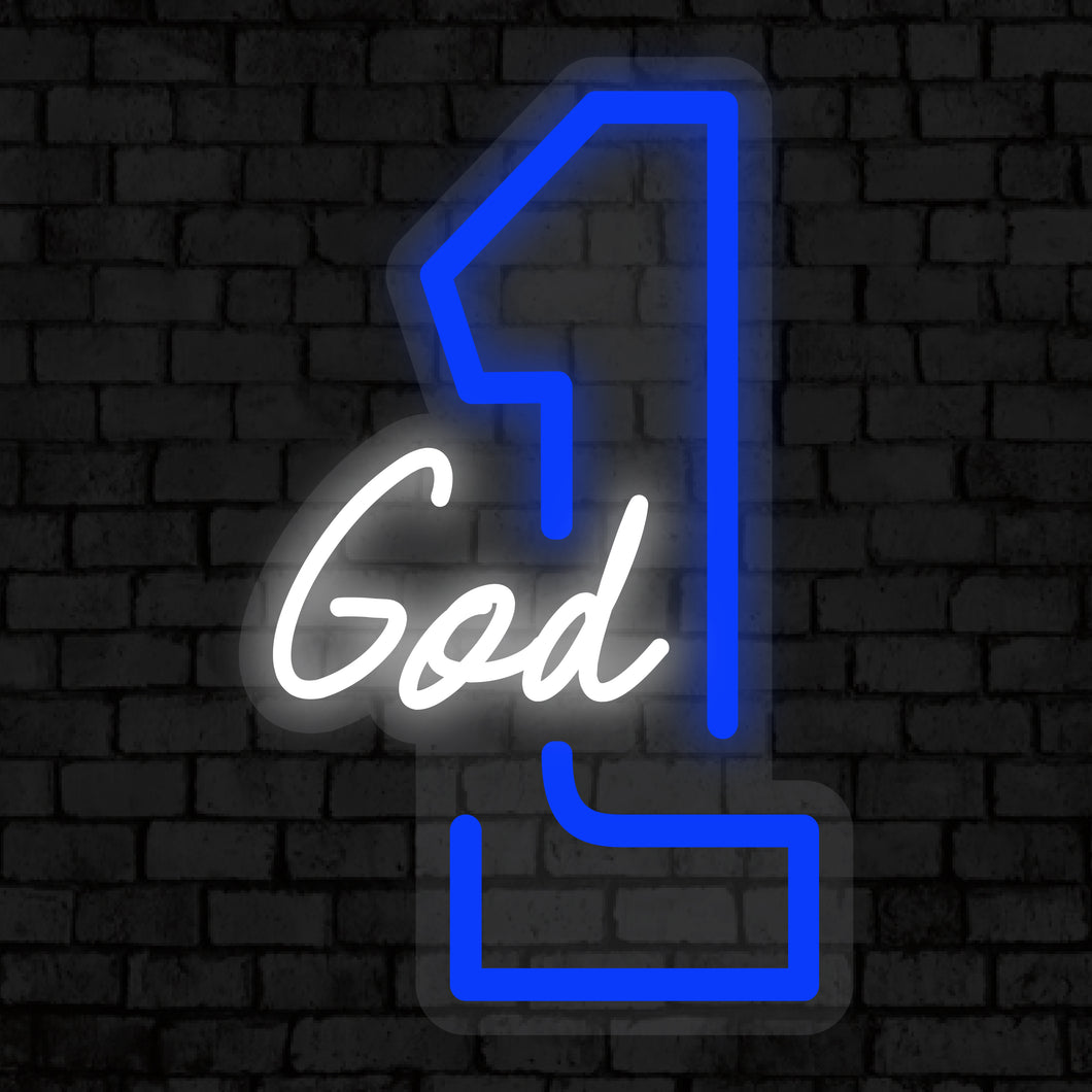 God First Neon Sign