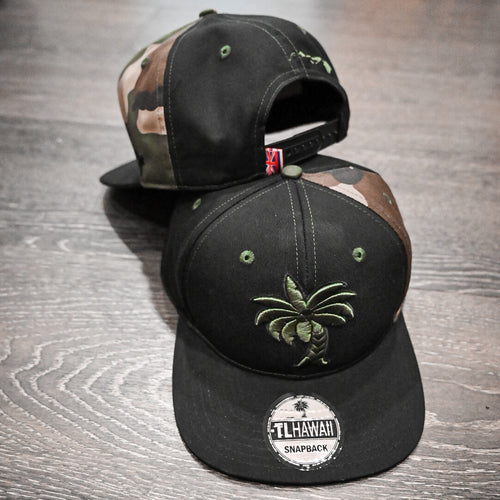 Coconut Tree SnapBack (Camo Strip)