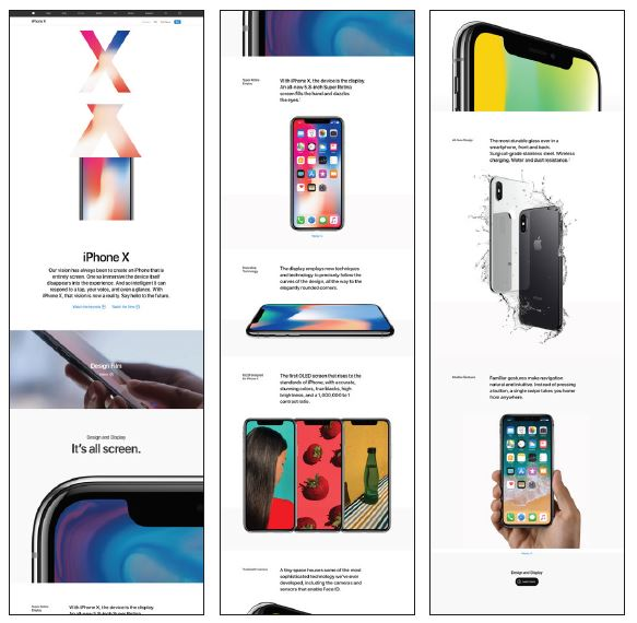 Apple iPhone X page