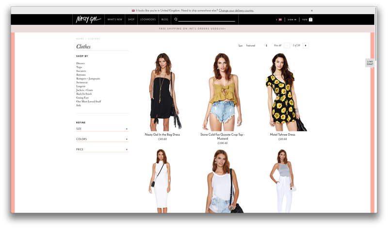 Boutique Shopify Nasty Gall