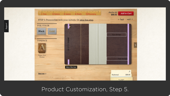 Dodocase - customizable products on Shopify