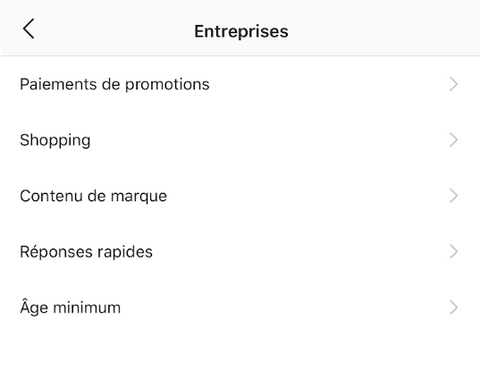 Exemple Instagram Shopping Shopify
