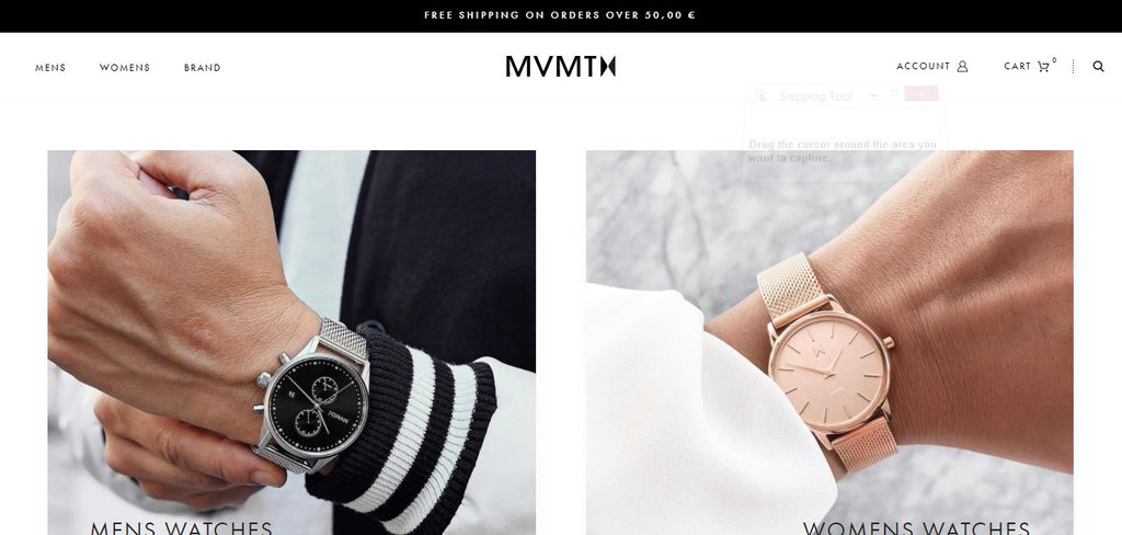 MVMT Watches - shopify site in the best ranking shopify sites