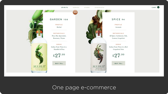 seedlipdrinks, a beautiful one-page shopify store