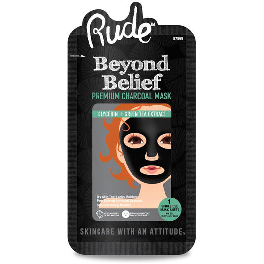 Rude Cosmetics Beyond Belief Charcoal Face Mask per unit- Store