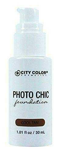 CITY COLOR COSMETICS Photo Chic Liquid Foundation | Oil Free Medium To Full Coverage, Combination Oily Skin