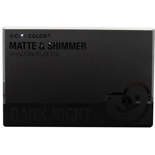 City Color Matte & Shimmer 24 Shade Shadow Palette Dark Night -Store