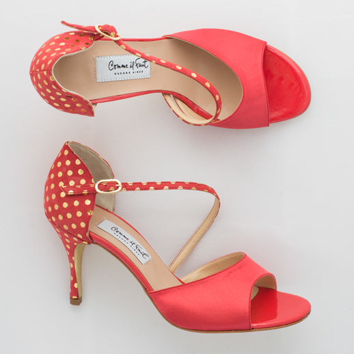 Copy of Comme il Faut Shoes - Coral y Lunares 7cm
