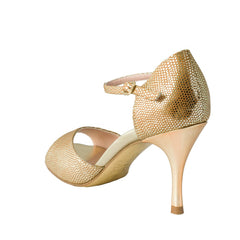 Exclusive Comme il Faut Tango Shoes - Reptil Dorado