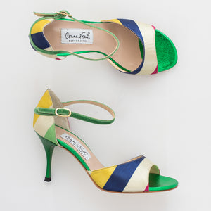 Comme il Faut Tango Shoes - Rayado Multicolor 7cm