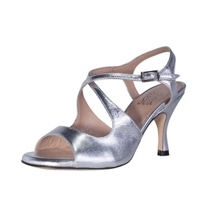 Dita Laminato Argento 6cm heel (Regular to Wide)