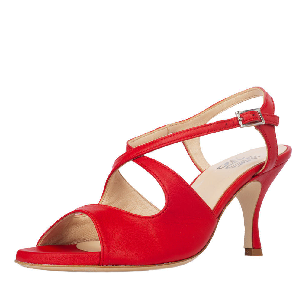 Dita Nappa Rosso 6cm (Regular to Wide)