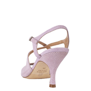 Dita Stampato Lizard Rosa Pallido 6cm (Regular to Wide)