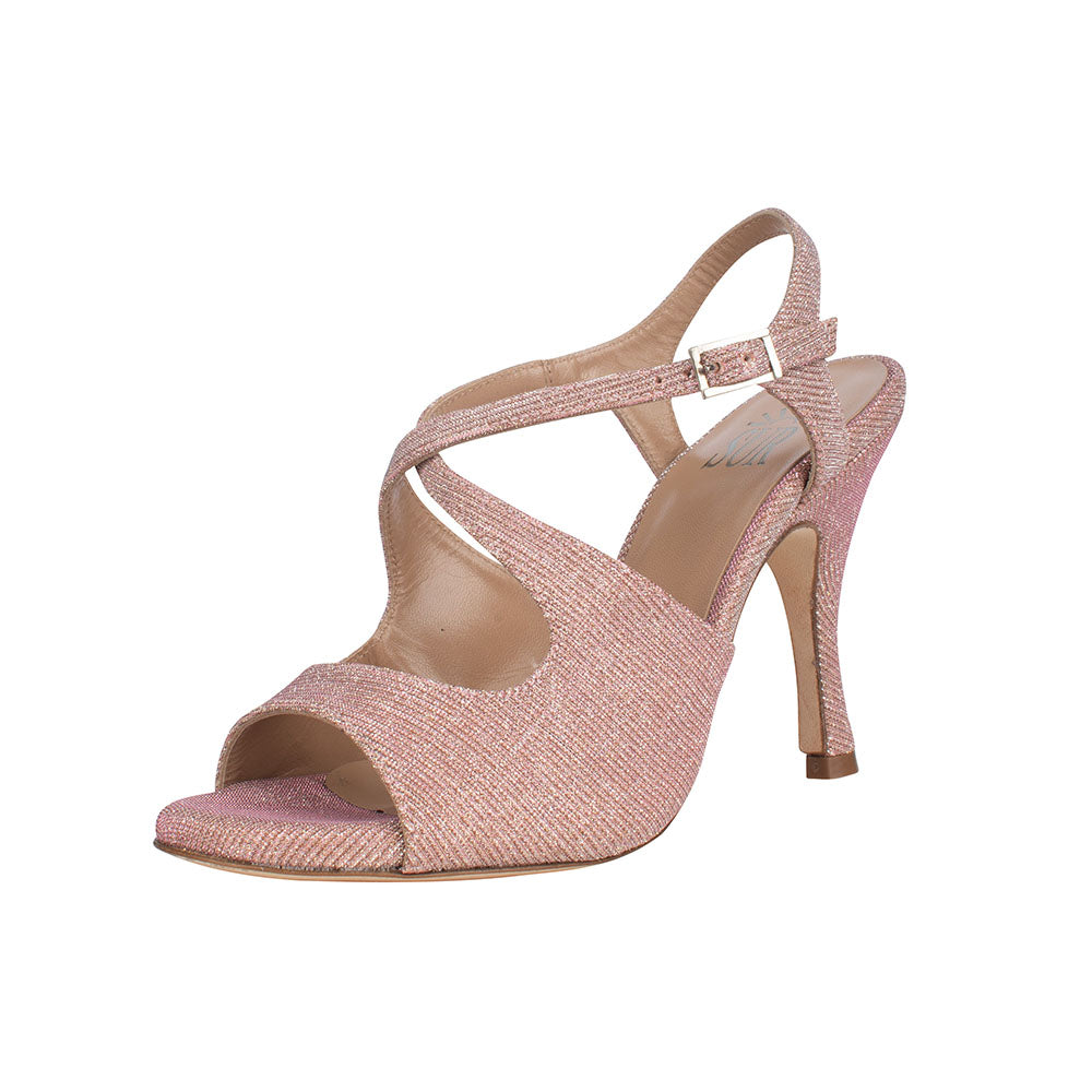 SUR - Dita Lurex Rosa 8cm heel (Regular to Wide)