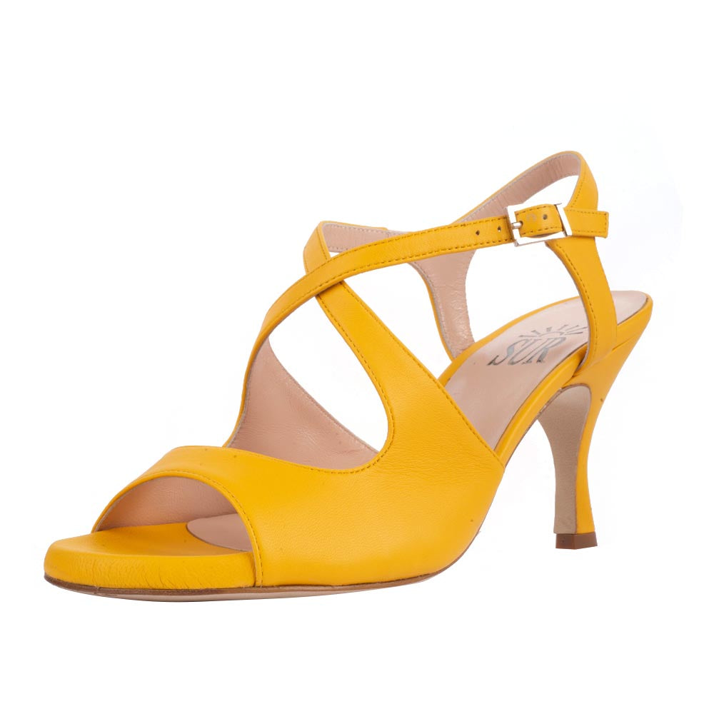 Dita Nappa Giallo 6cm (Regular to Wide)