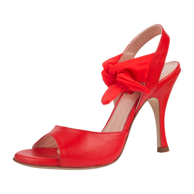 SUR - Paloma Nappa Rosso 8cm heel (Regular to Wide)