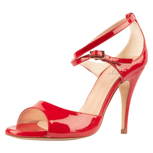Anais Vernice Rosso 9cm (Regular to Narrow)