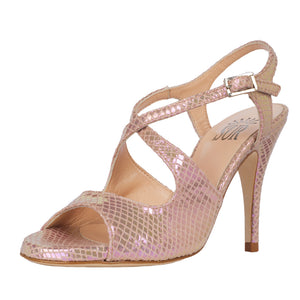 Dita Reptil Nude Cangiante 9cm (Regular to Narrow)