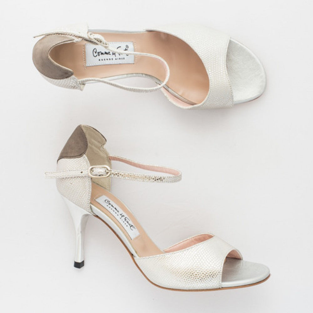 Exclusive Comme il Faut Tango Shoes - Peltre y plata con corazon