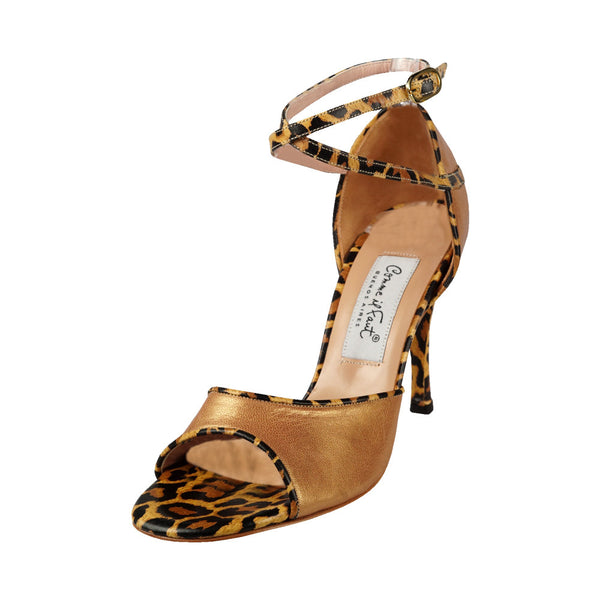Comme il Faut Shoes - Bronze y Cheetah 9cm