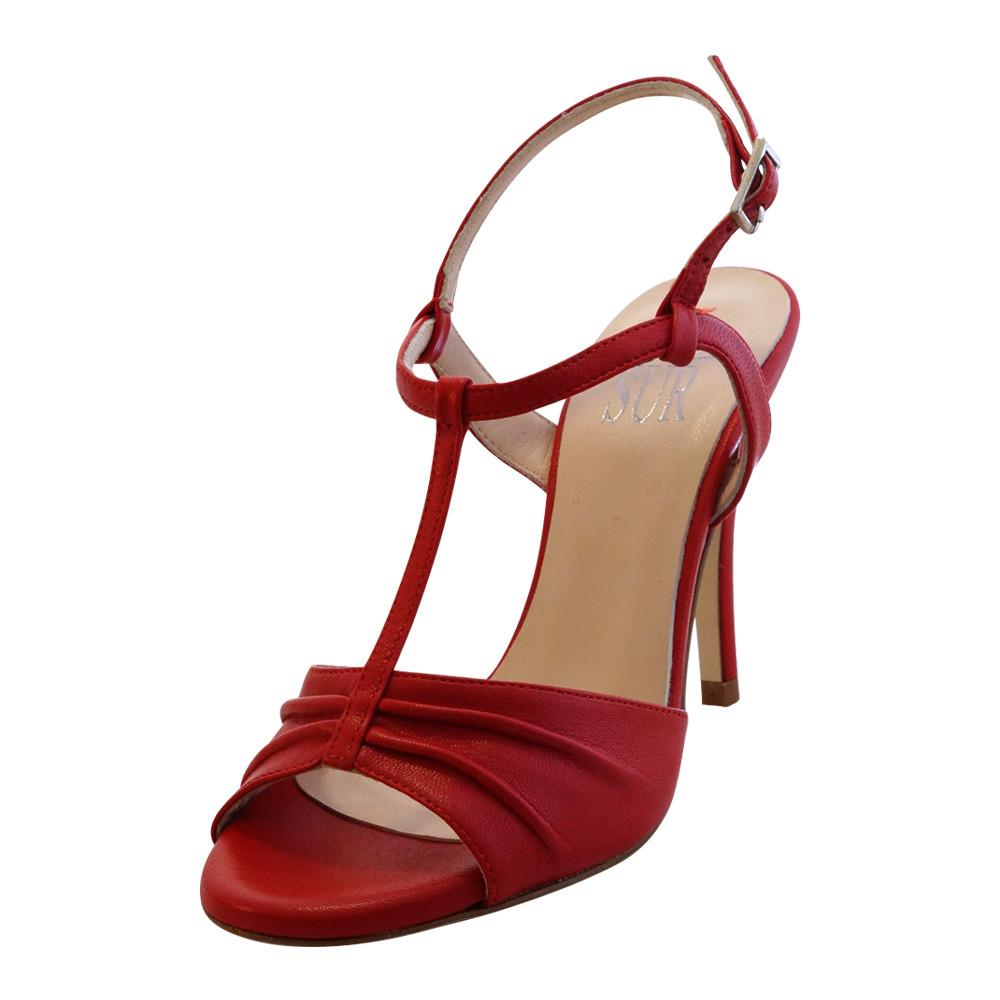 SUR - Cloe Napa Rosso 9cm (Regular to Wide)
