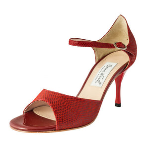 Exclusive Comme il Faut Tango Shoes - Reptil Bordo